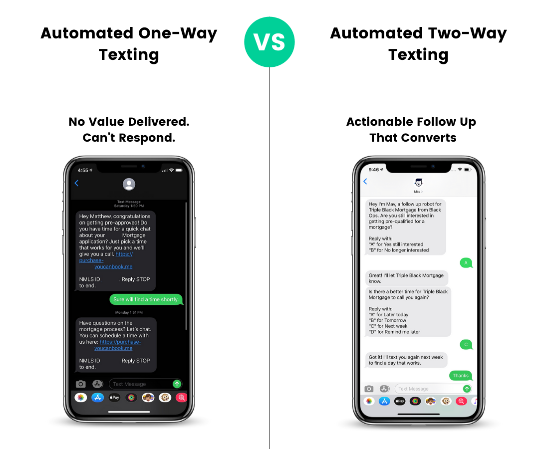 Automated One-Way Texting Vs Two-Way-1