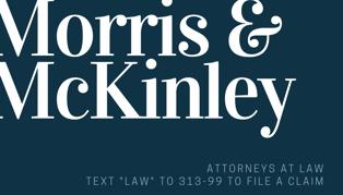 Navy Serif Lawyer Business Card